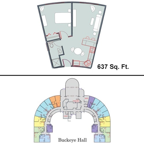 Floor Plan of Buckeye Hall