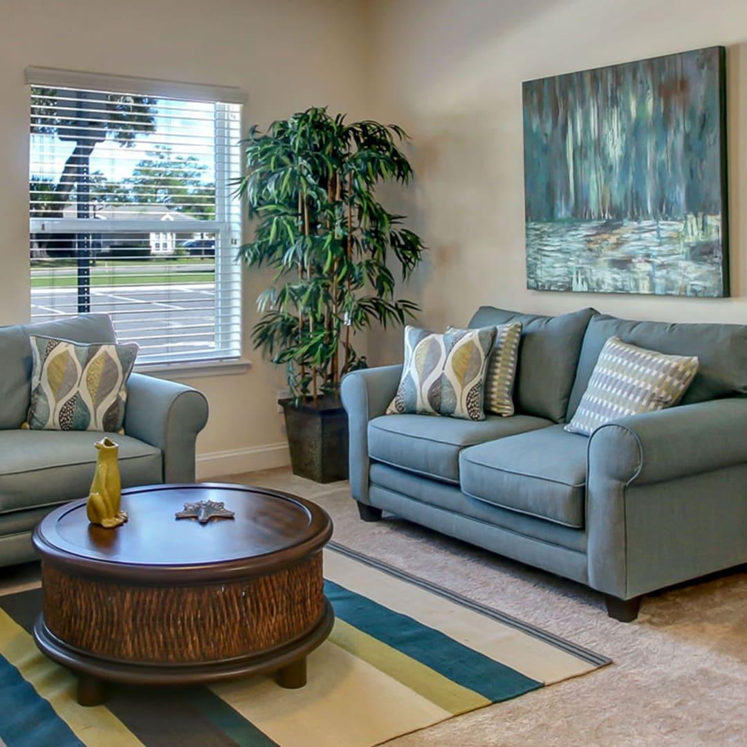 St. John Apartment interior - Living area