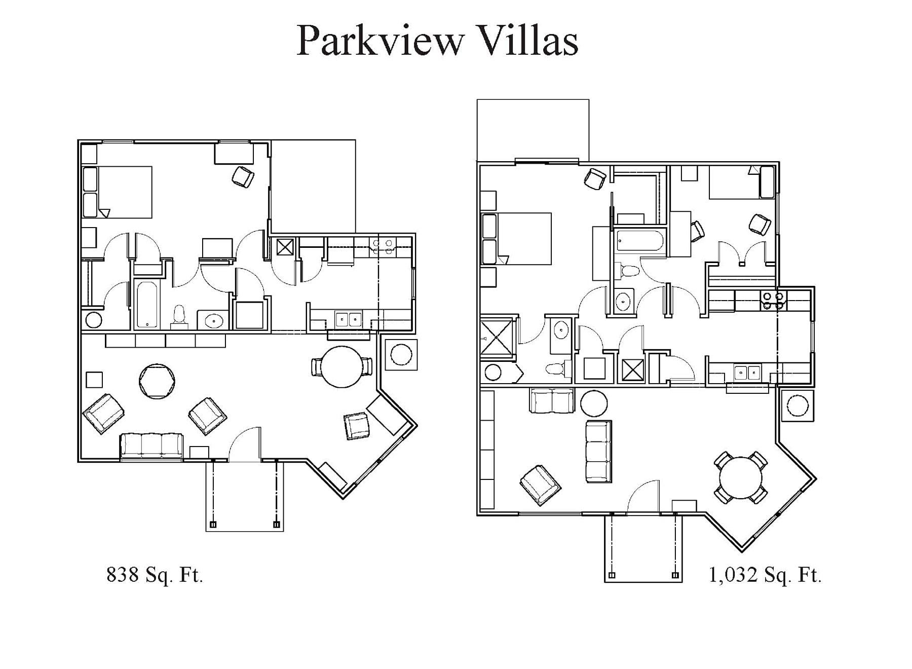 Parkview Villas Floor Plans