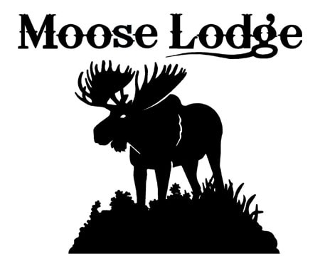 Loyal Order of the Moose logo - silhouette of a large moose.
